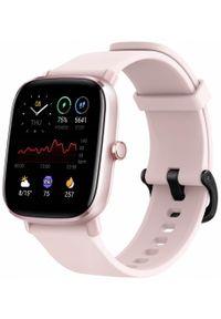 AMAZFIT - Amazfit Smartwatch GTS 2 mini, Flamingo Pink. Rodzaj zegarka: smartwatch. Kolor: różowy. Styl: sportowy