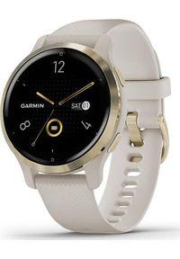 GARMIN - Zegarek sportowy Garmin Venu 2S Beżowy (010-02429-11). Kolor: beżowy. Styl: sportowy