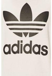 adidas Originals - Bluza bawełniana. Okazja: na co dzień. Kolor: biały. Materiał: bawełna. Długość rękawa: długi rękaw. Długość: długie. Wzór: nadruk. Styl: casual