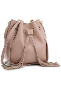 Różowa torebka worek Creole casualowa