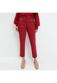 Czerwone spodnie Mohito gładkie