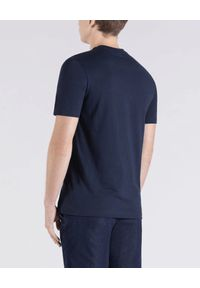 PAUL & SHARK - Granatowy t-shirt ze złotym logo. Kolor: niebieski. Materiał: bawełna, jeans. Wzór: nadruk