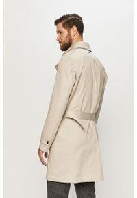 Kremowy płaszcz Strellson na co dzień, casualowy, gładki