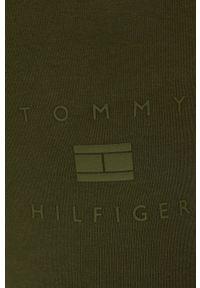 TOMMY HILFIGER - Tommy Hilfiger - Legginsy. Kolor: zielony. Materiał: dzianina. Wzór: nadruk