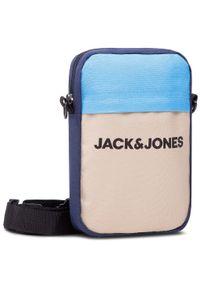 Jack & Jones - Saszetka JACK&JONES - Jacjamie Small Slingbag 12158443 Crockery. Kolor: szary, niebieski, wielokolorowy. Materiał: materiał