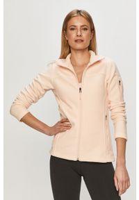 Różowa bluza rozpinana columbia gładkie, na co dzień