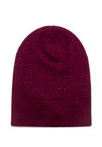 Czerwona czapka William Sharp elegancka, na zimę