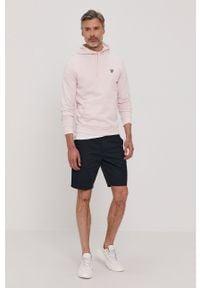 Różowa bluza nierozpinana Lyle & Scott casualowa, na co dzień