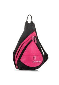PAOLO PERUZZI - Plecak sportowy na jedno ramię różowy Bag Street 4388. Kolor: różowy. Materiał: materiał. Styl: street, sportowy