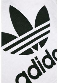 Biała bluzka z krótkim rękawem adidas Originals casualowa, na co dzień, z nadrukiem