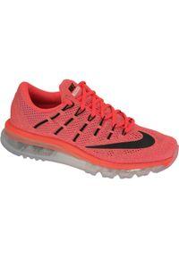 Pomarańczowe buty sportowe Nike z cholewką