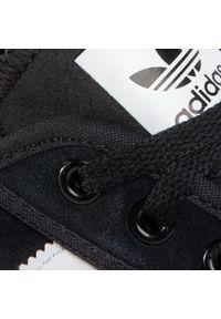 Czarne trampki Adidas na co dzień, z cholewką, casualowe