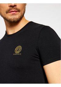 VERSACE - Versace T-Shirt Medusa AUU01005 Czarny Regular Fit. Kolor: czarny