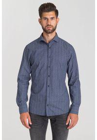 Niebieska koszula JOOP! Jeans biznesowa, na lato, na co dzień