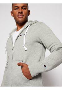 Champion Bluza Zip-Up Script Logo Fleece 214719 Szary Comfort Fit. Kolor: szary