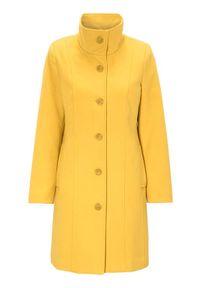 Żółty płaszcz Cellbes elegancki, ze stójką