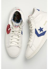Białe wysokie trampki Converse z okrągłym noskiem, z cholewką
