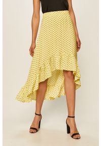 Żółta spódnica ANSWEAR casualowa, w grochy, na co dzień
