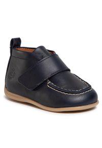 Niebieskie buty zimowe Bundgaard z cholewką przed kolano, z cholewką