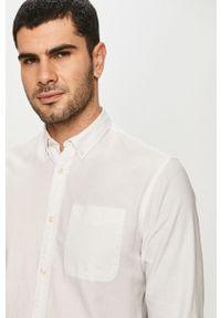 Biała koszula Jack & Jones na co dzień, długa, button down