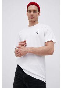 Volcom - T-shirt bawełniany. Kolor: biały. Materiał: bawełna. Wzór: nadruk