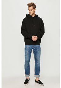 Czarna bluza nierozpinana Element z motywem z bajki, z kapturem