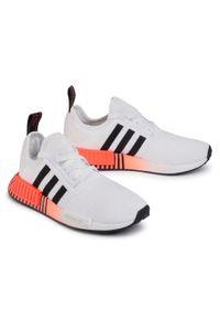 Białe buty sportowe Adidas na co dzień, Adidas NMD, z cholewką