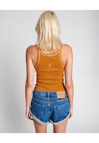 ONETEASPOON - Granatowe szorty Bandits Rosewood. Stan: obniżony. Kolor: niebieski. Materiał: jeans. Wzór: aplikacja