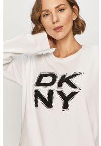 Biała bluza DKNY bez kaptura, casualowa