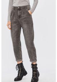 Szare jeansy Answear Lab wakacyjne, z podwyższonym stanem