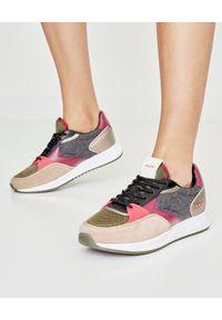 HOFF - Sneakersy Myfair. Kolor: szary. Materiał: wełna, jeans, materiał, zamsz. Szerokość cholewki: normalna. Wzór: nadruk. Sezon: jesień