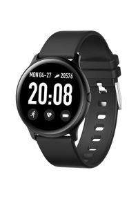 Czarny zegarek Maxcom klasyczny, smartwatch