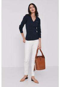 Białe jeansy Lee gładkie