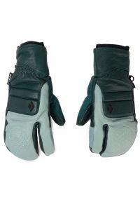 Zielone rękawiczki sportowe Black Diamond narciarskie