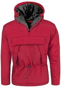 Czerwona kurtka przejściowa Recea na wiosnę, z krótkim rękawem, z kapturem