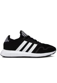 Czarne buty sportowe Adidas z cholewką, do biegania