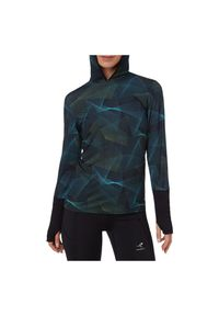 Bluza damska do biegania Energetics 1/2 zip Cassia 411912. Materiał: poliester, materiał, elastan. Wzór: nadruk. Sport: fitness