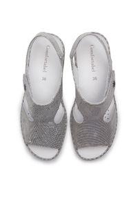 Srebrne sandały Comfortabel