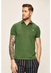 Zielona koszulka polo Polo Ralph Lauren polo, z aplikacjami, krótka