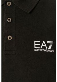 EA7 Emporio Armani - Longsleeve. Okazja: na co dzień. Kolor: czarny. Materiał: dzianina. Długość rękawa: długi rękaw. Długość: krótkie. Wzór: gładki. Styl: casual