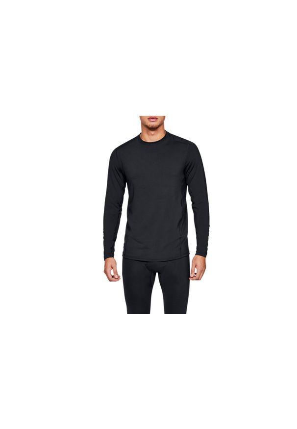 Czarna koszulka sportowa Under Armour w kolorowe wzory