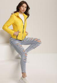 Żółta kurtka pikowana Renee