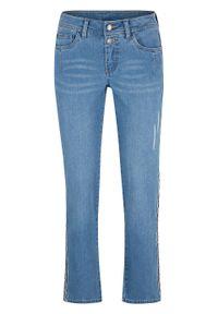 Miękkie dżinsy w krótszej długości, STRAIGHT bonprix jasnoniebieski. Kolor: niebieski. Długość: krótkie