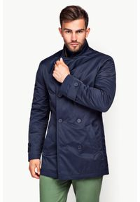 Niebieski płaszcz Lancerto na zimę, elegancki