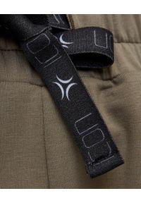 ICON - Bawełniane spodnie dresowe khaki. Kolor: zielony. Materiał: dresówka, bawełna