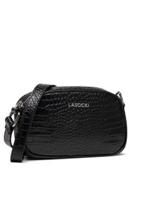 Lasocki - Torebka LASOCKI - BRT-578 Black. Kolor: czarny. Materiał: skórzane. Rodzaj torebki: na ramię