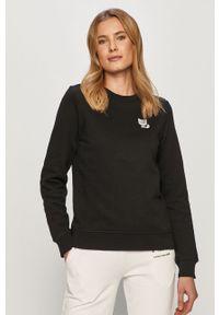 Czarna bluza Karl Lagerfeld klasyczna, z nadrukiem, długa, z długim rękawem