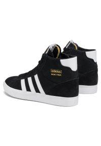 Czarne buty sportowe Adidas z cholewką, na co dzień