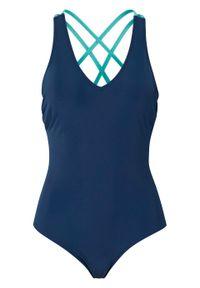 Kostium kąpielowy bonprix niebieskozielono-miętowy. Kolor: niebieski