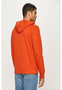 Pomarańczowa bluza nierozpinana New Balance z nadrukiem, z kapturem